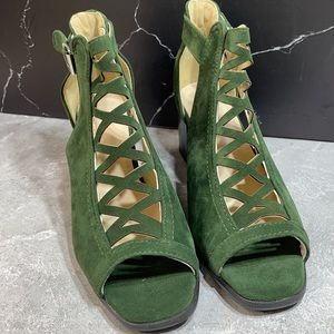 Fashion Open Ankle Bootie Green Size 9m